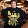Baby Yoda Hug The beatles Shirt