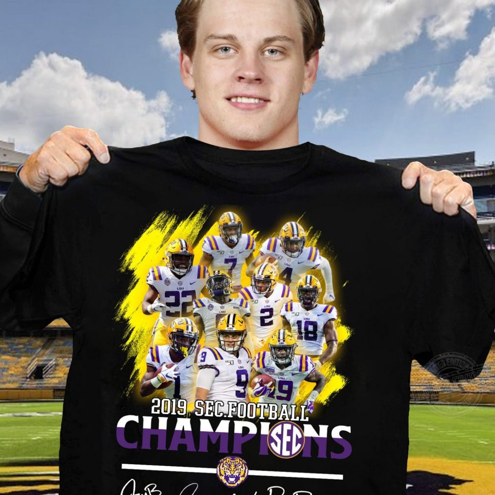 Lsu Tigers Alternate Players 2019 Sec Football Champions Signature Shirt