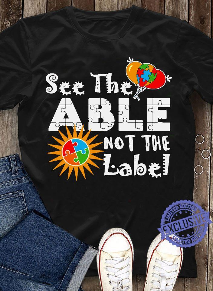 See the able not the label shirt