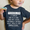 Terddler a toodler who is a turd does not listen emotionally unstable Shirt
