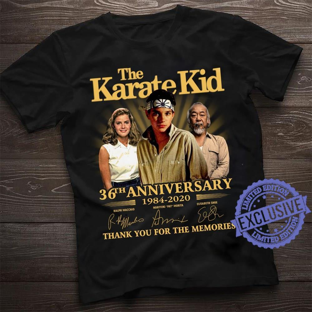 The karate kid 36th anniversary thank you for the memories shirt