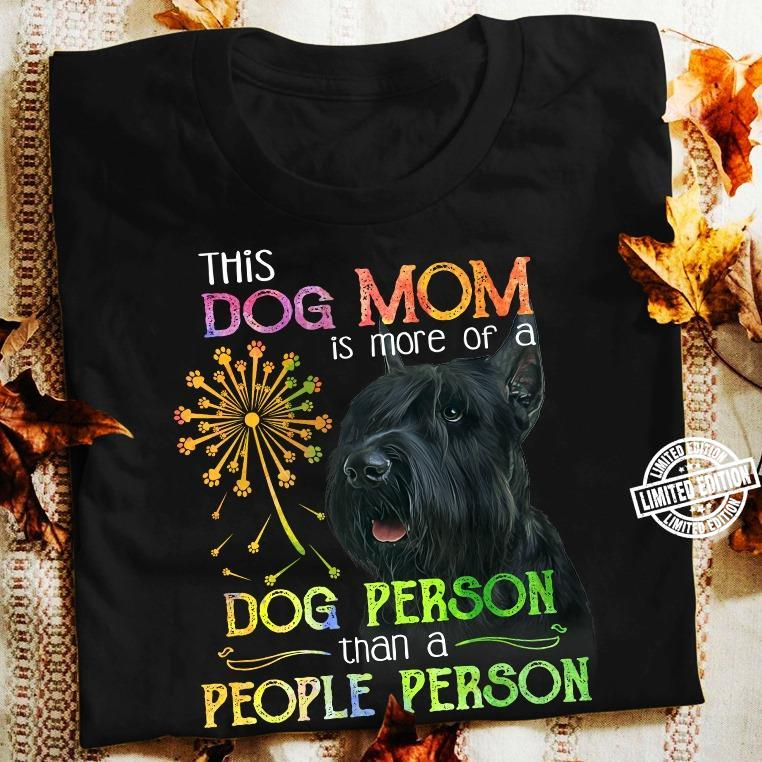 This dog mom is more of a dog person than a people person shirt
