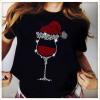 Wine Glass Santa Christmas Diamond Shirt